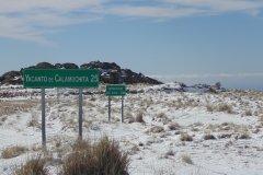 Camino Cerro Linderos Nieve